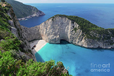 Bay Photograph - Navagio Beach by Anastasy Yarmolovich