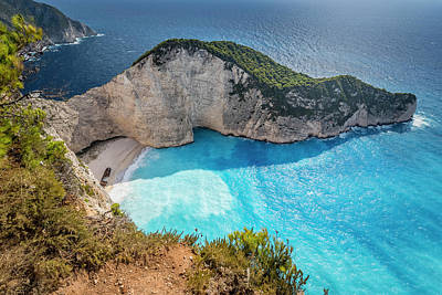 Photograph - Navagio Beach - Shipwreck Cove - Zante by Kelvin Trundle