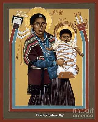 Painting - Navaho Madonna - Rlnvm by Br Robert Lentz OFM