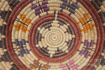Photograph - Navajo Basket Weaving by Teresa Wilson