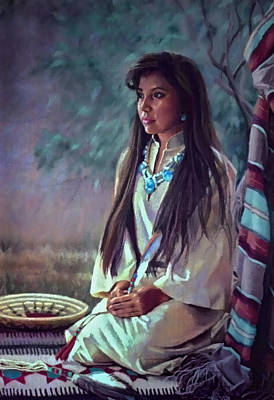 Painting - Navajo Beauty by Jean Hildebrant