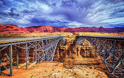 Navajo Bridge At Marble Canyon Print by Carolyn Derstine
