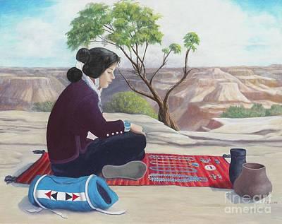 Painting - Navajo Canyons by Frances  Dillon