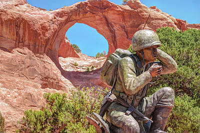 Photograph - Navajo Code Talker Monument - Window Rock Arizona by Gregory Ballos