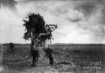Diety Photograph - Navajo Dancer, C1905 by Granger