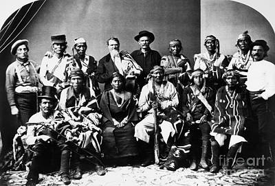 Western Kentucky Photograph - Navajo Delegation, C1874 by Granger