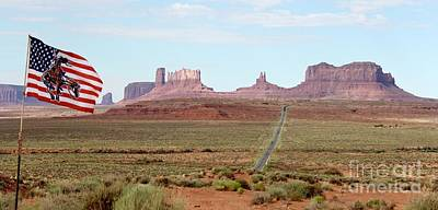 Photograph - Navajo Flag At Monument Valley by Suzanne Oesterling