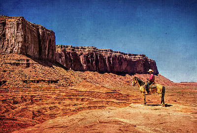 Photograph - Navajo Horseman In Monument Valley by Carolyn Derstine