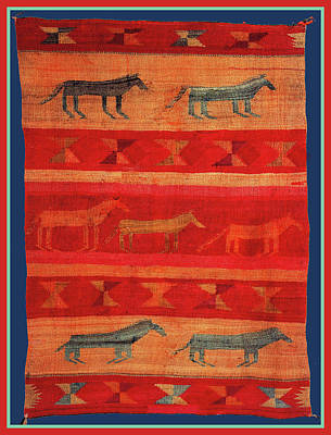 Digital Art - Navajo Horses by Vagabond Folk Art - Virginia Vivier