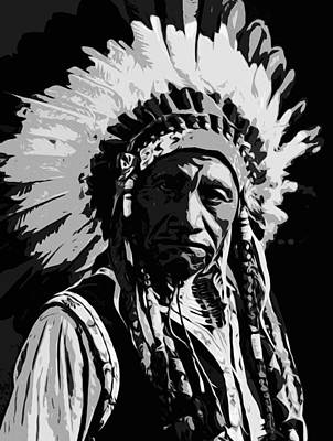 Painting - Navajo Indian Chief by Andrea Mazzocchetti