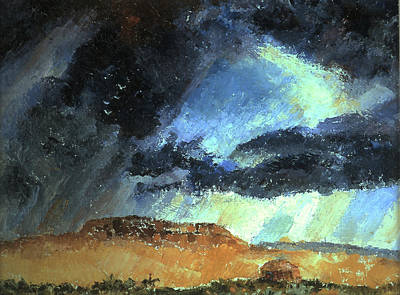 Navaho Painting - Navajo Landscape With Rider And Hogan by Willoughby Senior