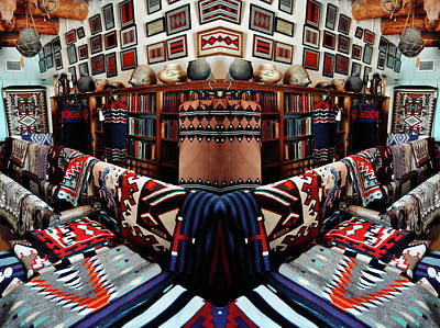 Photograph - Navajo Rug Room Mirror by Kyle Hanson
