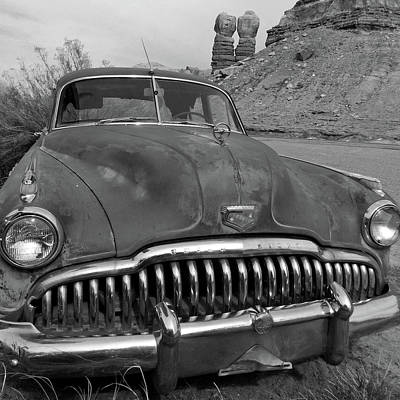 Photograph - Navajo Twins And Buick Eight by Jeff Brunton
