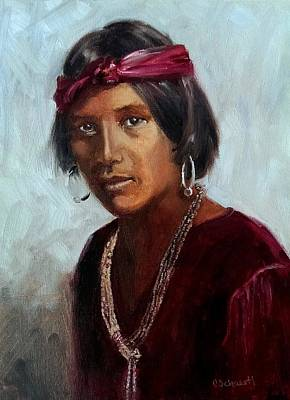 Painting - Navajo Youth by Connie Schaertl