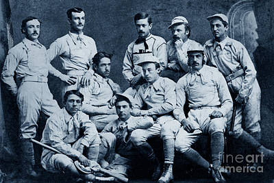 Photograph - Naval Academy Base Ball Team 1870 by California Views Mr Pat Hathaway Archives