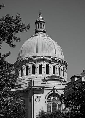 Naval Academy Chapel - Black And White Art Print