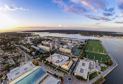Annapolis Photograph - Naval Academy  by Mid Atlantic Aerial