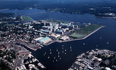 Chesapeake Bay Photograph - Naval Academy by Skip Willits