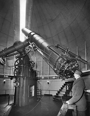 Step Stool Photograph - Naval Observatory Telescope by Underwood Archives