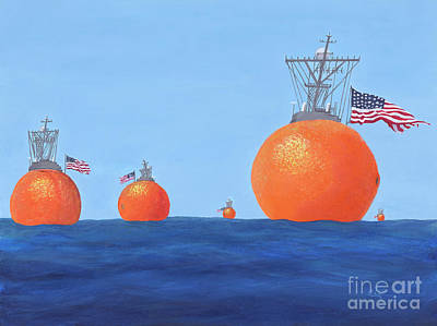 Painting - Naval Oranges by Cindy Lee Longhini