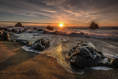 Photograph - Navarro Beach Seascape by Donnie Whitaker