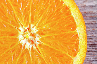 Photograph - Navel Orange Half by Teri Virbickis