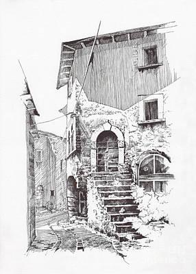 Keith Richards - Navelli dip pen sketch  by Paul Davenport