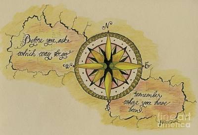 Drawing - Navigate Home by Eva Ason