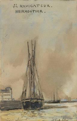 Noirmoutier Painting - Navigateur Noirmoutier by MotionAge Designs