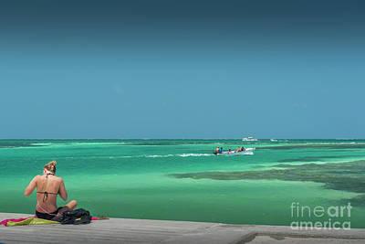 Photograph - Navigating The Caye Caulker Split 2 by David Zanzinger