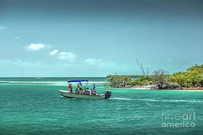 Photograph - Navigating The Caye Caulker Split by David Zanzinger
