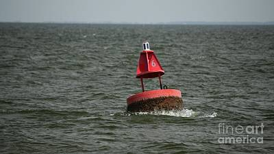 Photograph - Navigational Buoy On Hatteras-ocracoke Ferry Route by Ben Schumin