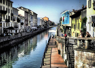 Photograph - Naviglio Grande Canal by Jim Hill