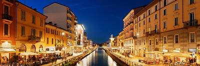 Photograph - Naviglio Grande Canal Panorama by Songquan Deng