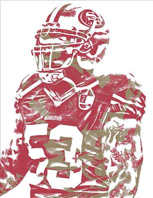 Football Mixed Media - Navorro Bowman San Francisco 49ers Pixel Art 1 by Joe Hamilton