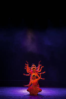 Goddess Durga Photograph - Navratri Durga by Marji Lang