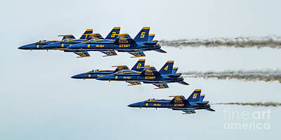 Photograph - Navy Blue Angels by Nick Zelinsky