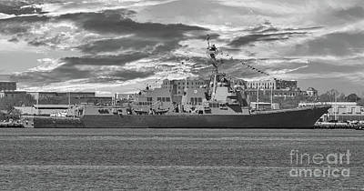 Photograph - Navy Destroyer Uss Ralph H Johnson by Dale Powell