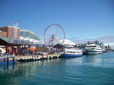 Lake Michigan Photograph - Navy Pier Chicago by Rosemary Babikan