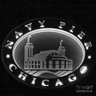 Photograph - Navy Pier Chicago Sign by David Levin