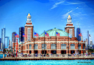 Hancock Building Digital Art - Navy Pier by Dan Stone