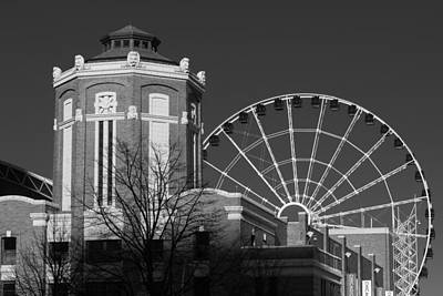 Gatehouse Photograph - Navy Pier Gatehouse Chicago B W by Steve Gadomski