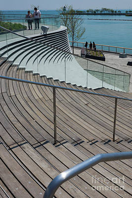 Photograph - Navy Pier Stairs by Jennifer White