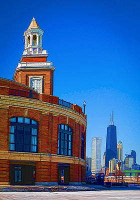 Photograph - Navy Pier With Texture by Kathleen Scanlan