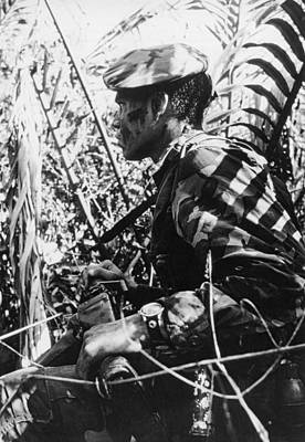 Navy Seal In Mekong Delta Print by Underwood Archives