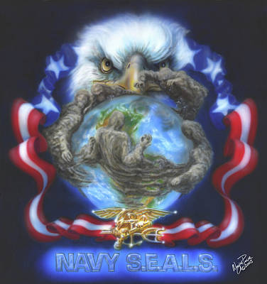 Dakota Painting - Navy Seals by Wayne Pruse