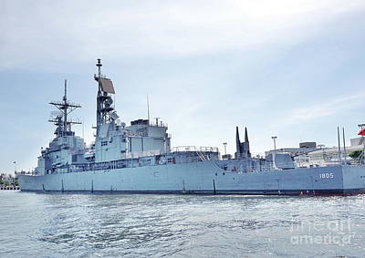 Photograph - Navy Ship In The Port Of Kaohsiung by Yali Shi