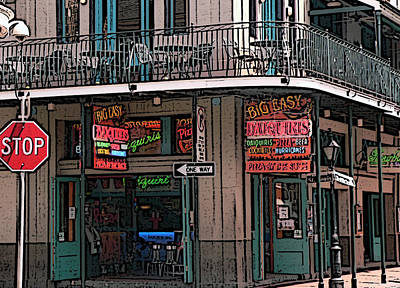Bourbon Street Photograph - Nawlins by David Bearden