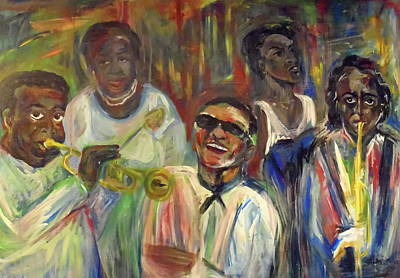 Painting - Nawlins Jazz by Made by Marley