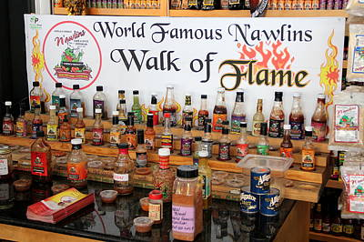 Photograph - N'awlins Walk Of Flame Hot Sauce by Debi Dalio
